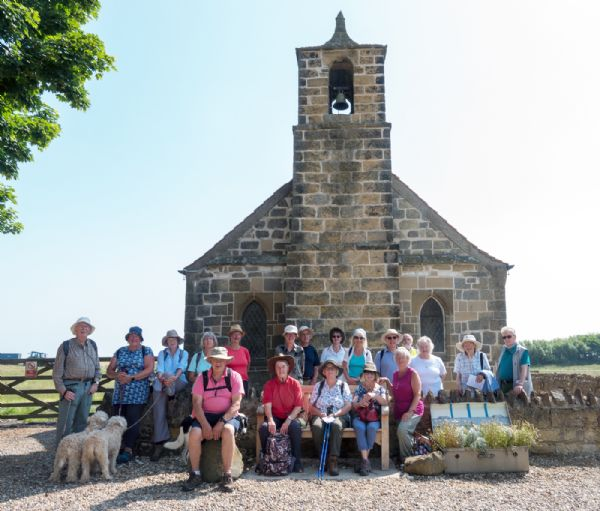 Pilgrims at St Leonard's, Speeton