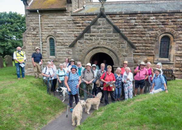 Pilgrims at St Peter's, Reighton