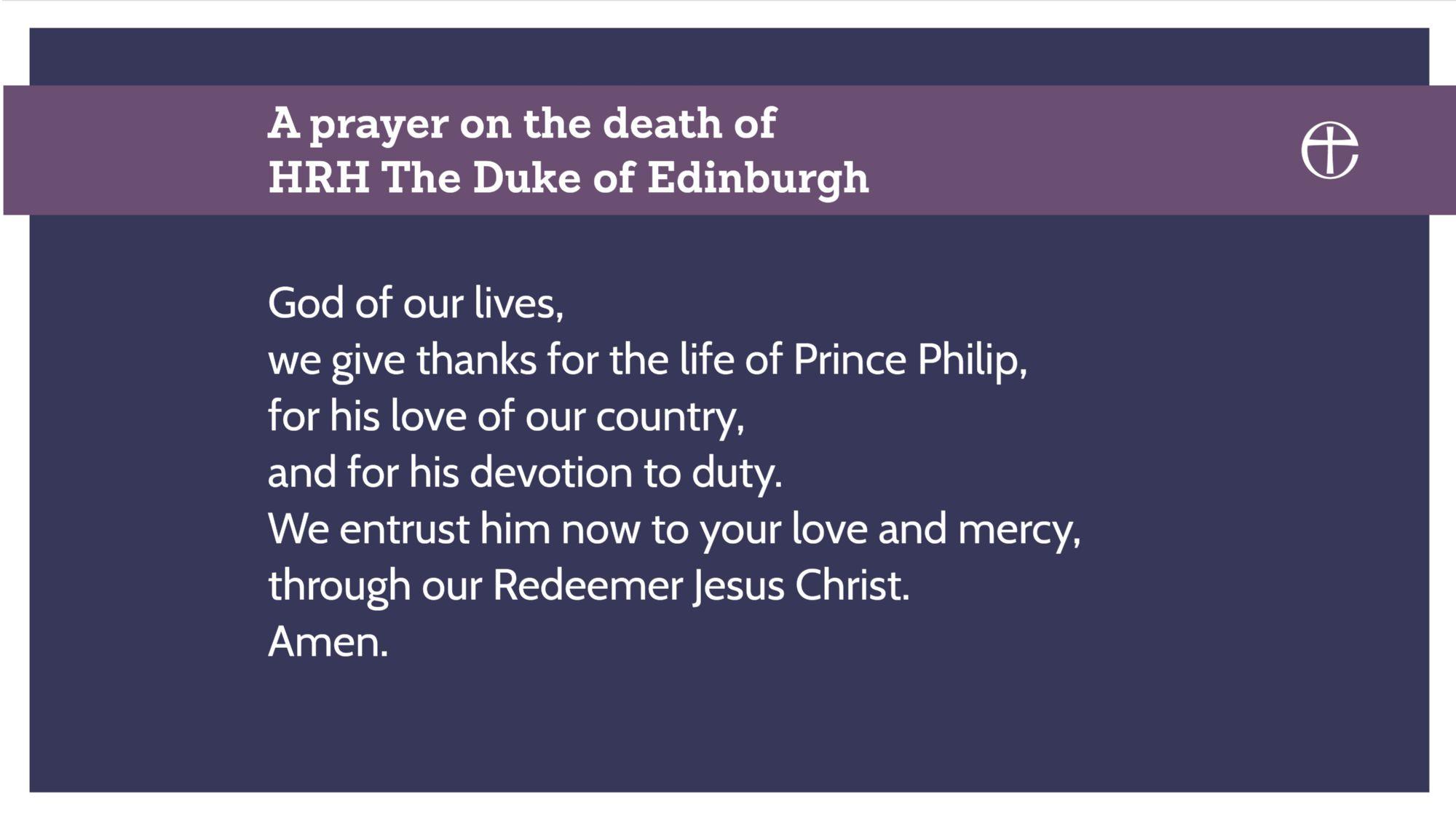 Prayer for Prince Philip