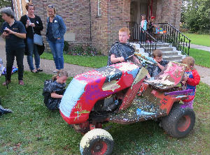 Painting the tractor