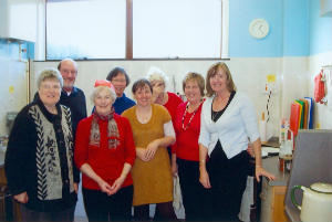 Coffee Morning Christmas lunch helpers