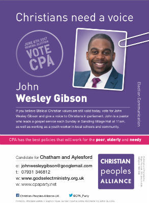 Parliamentary Candidate for Chatham and Aylesford