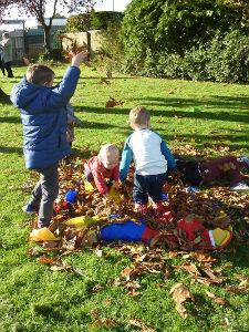 Messy Church autumn fun