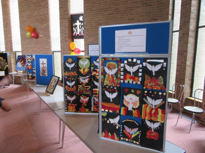 Pentecost Festival artwork displays 2