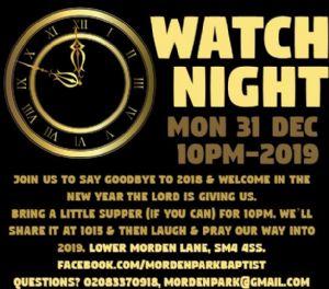 Watch night 31-12-18