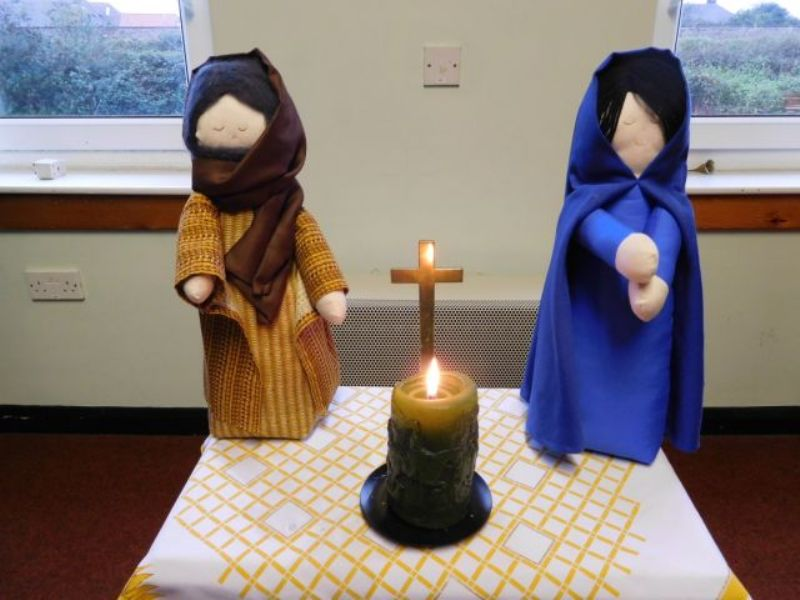 Mary & Joseph spent time at the Friday Prayer Group this morning