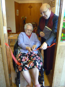 Side Chapel - Poppy Room - Cutting the ribbon