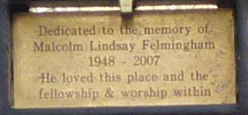 Weybourne Chapel - gate plaque