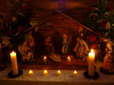 Candlelit crib