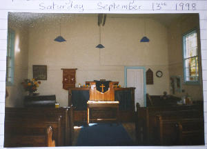 Gresham Chapel - old interior
