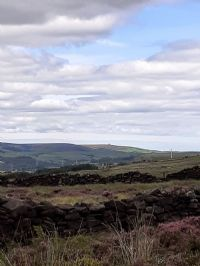 View from Holcombe Tower looking towards Darwen Tower on the horizon