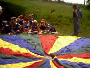 Parachute Games at the Rainbow Razzle