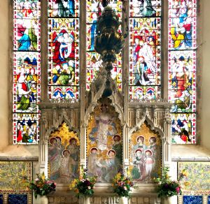 Bishopsbourne High Altar and Window