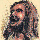 A sketch of Jesus laughing