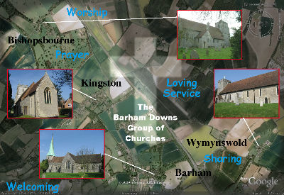 Aerial viw of benefice
