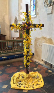 Decorated cross for Easter