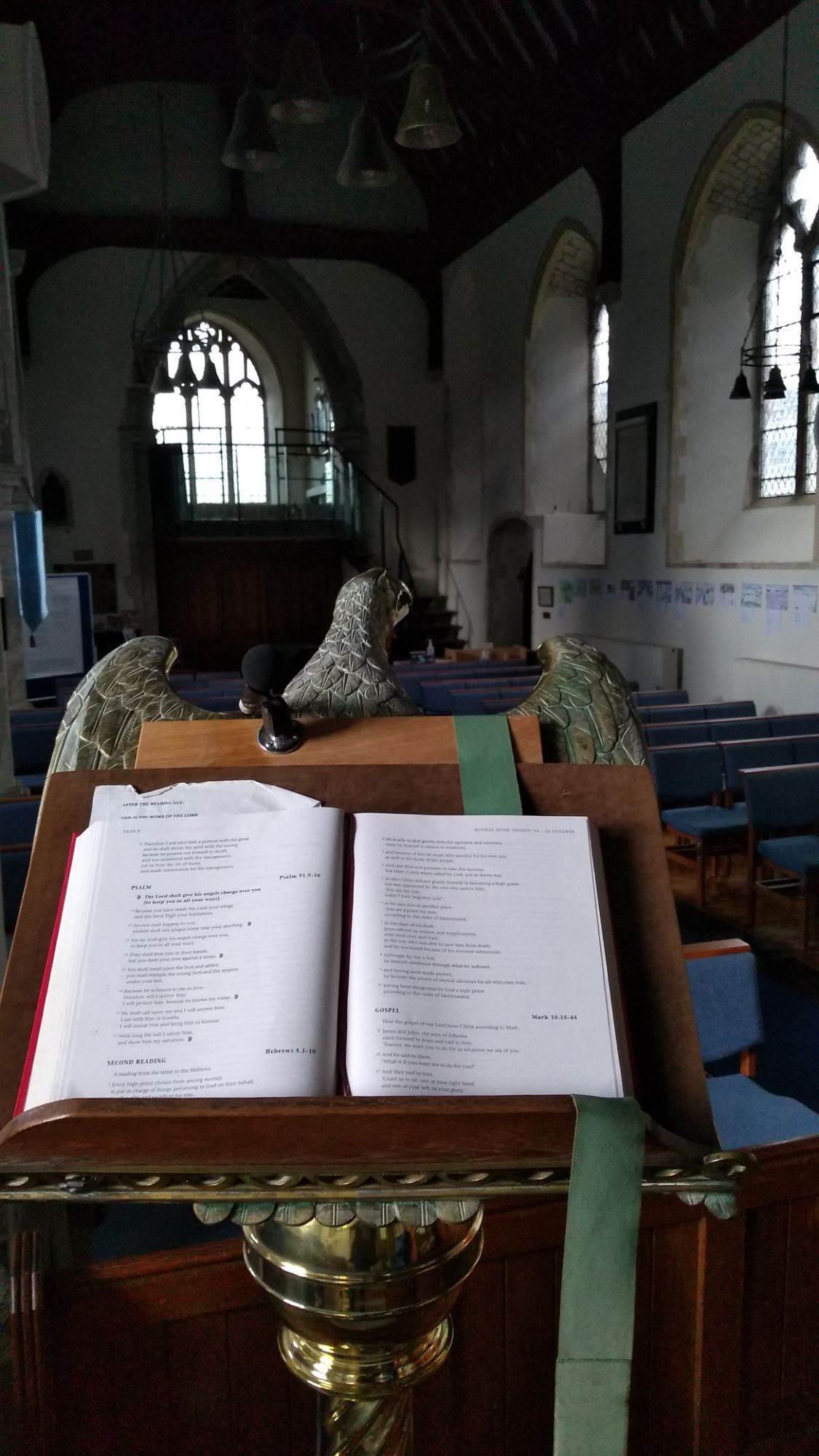 Bible on lectern
