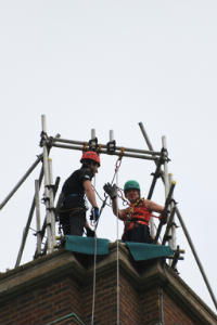 Janes Abseil Guildford Cathedral 17th May 2014