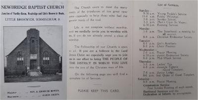 Church Leaflet