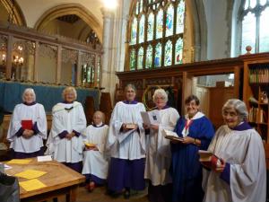 Benson Service choir