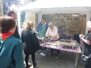 BBQ in the churchyard