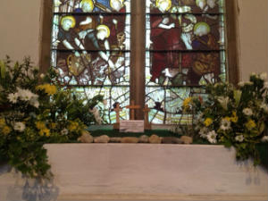 window sill in South Aisle
