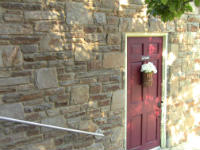 Normal entrance to church door