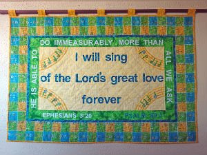 I will sing of the Lords great love