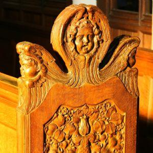 choir stalls cherub face 3
