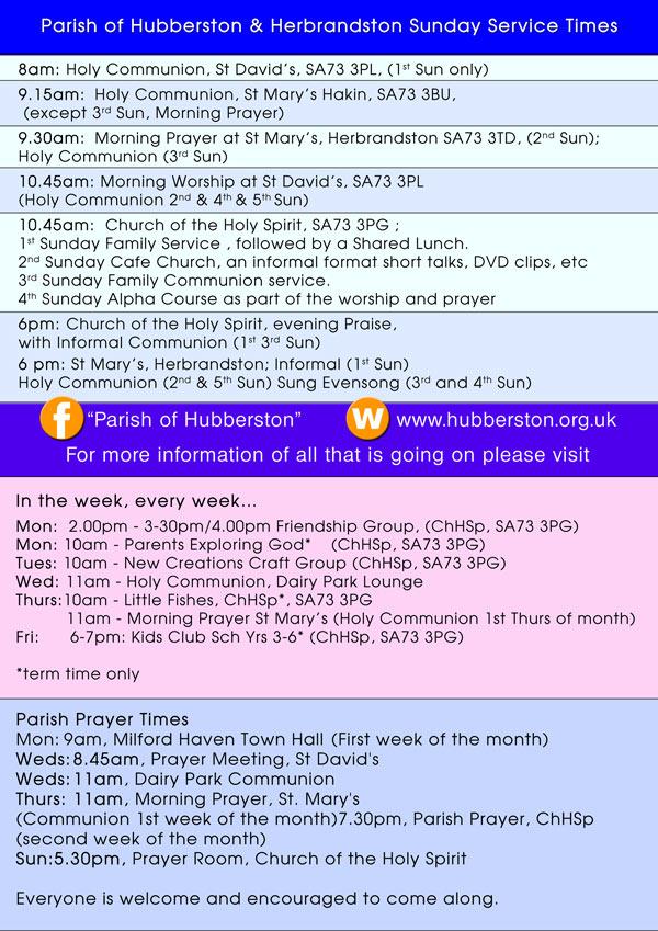 Parish times A4 image size
