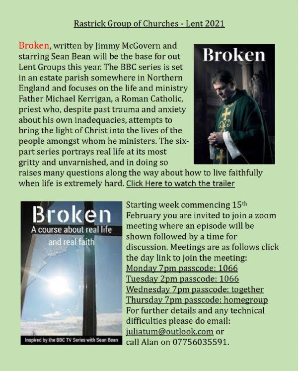 Lent Course 2021 Broken