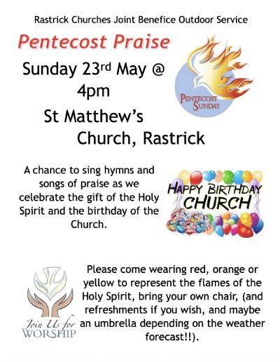 Pentecost Praise Flyer