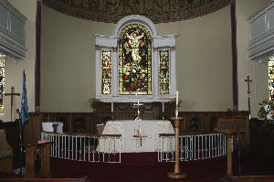 Chancel at east end of church 500x331