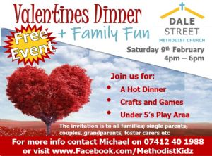 Valentines dinner and family fun