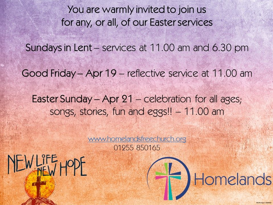 Easter 19 services
