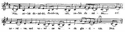 Non Nobis Domine - tune