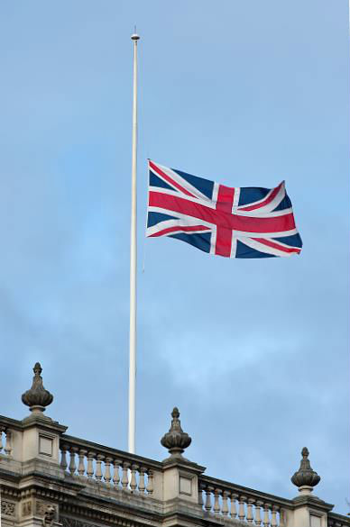 KTW - Union Flag at half mast