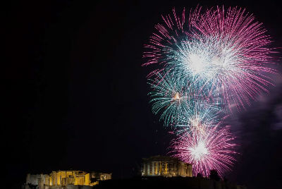New Year - Athens, Greece