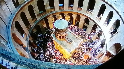 Church of the Holy Sepulchre - Easter crowds