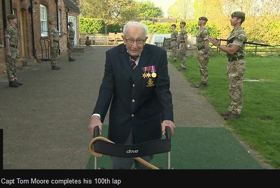 Captain Tom Moore - 100 laps