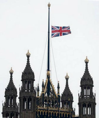 Union Flag over Parliament