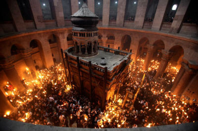 Easter Fire - Holy Sepulchre Jerusalem