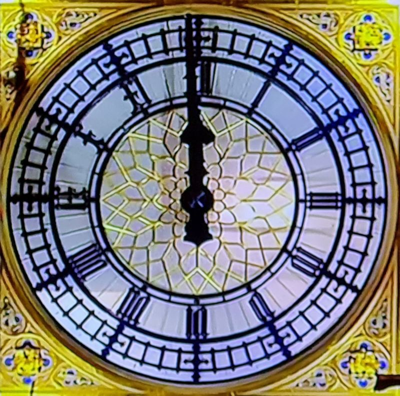 Big Ben at 23.59 31 December 2020