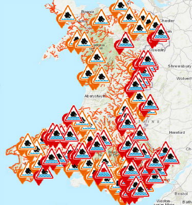 Storm Dennis - Wales