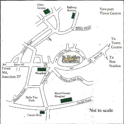 St Woolos - Map