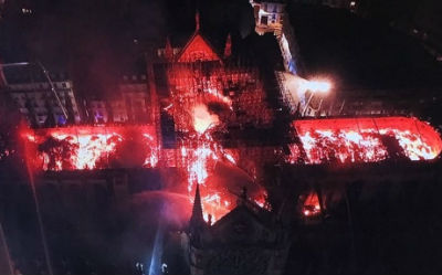 Notre Dame - aerial view