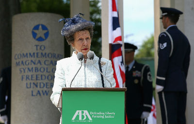 HRH The Princess Royal at Runnymede