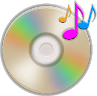 Colourful CD image with music notes