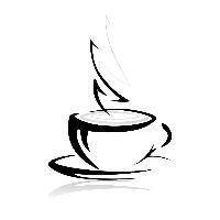 Coffeetea cup simple motif