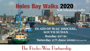 First part of the Holes Bay Walks leaflet in aid of Wau Diocese in South Sudan